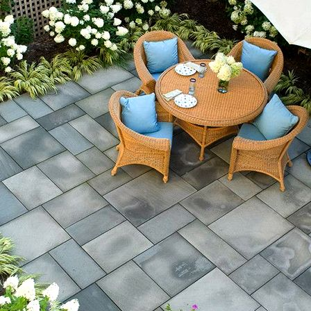Advantages of man-made concrete or cement stone, tile, brick, cobblestone and pavers created using molds color lots