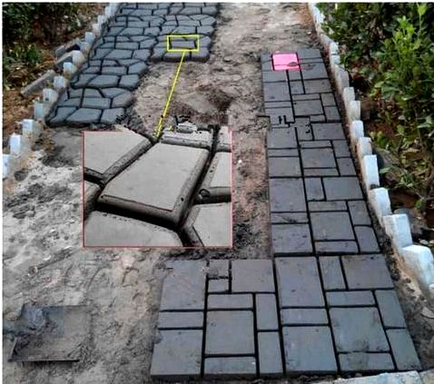 Advantages of man-made concrete or cement stone, tile, brick, cobblestone and pavers created using molds Some make use of