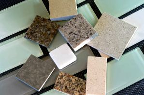 Backsplash Tiles And Quartz Countertop Samples