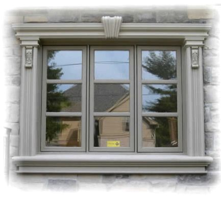 Exterior window ledge, window trim products by prime stucco ledge and