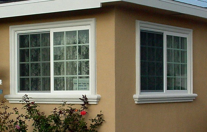 Exterior window ledge, window trim products by prime stucco unique window sills and window