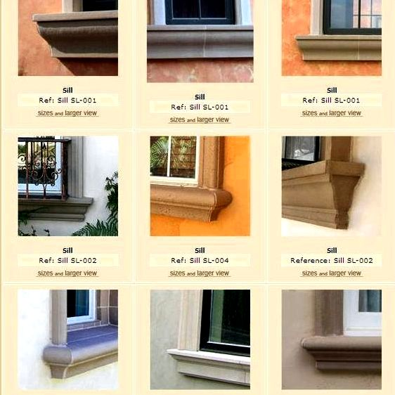 Exterior window ledge, window trim products by prime stucco dcor associated