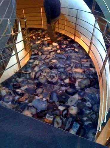 Gemstone flooring it keeps in cold which
