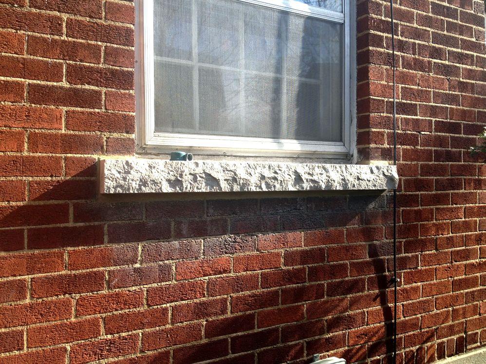 Gemstone - window sills textures, marble is put into
