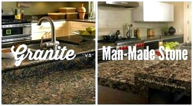 Granite versus man-made stone ll should also read