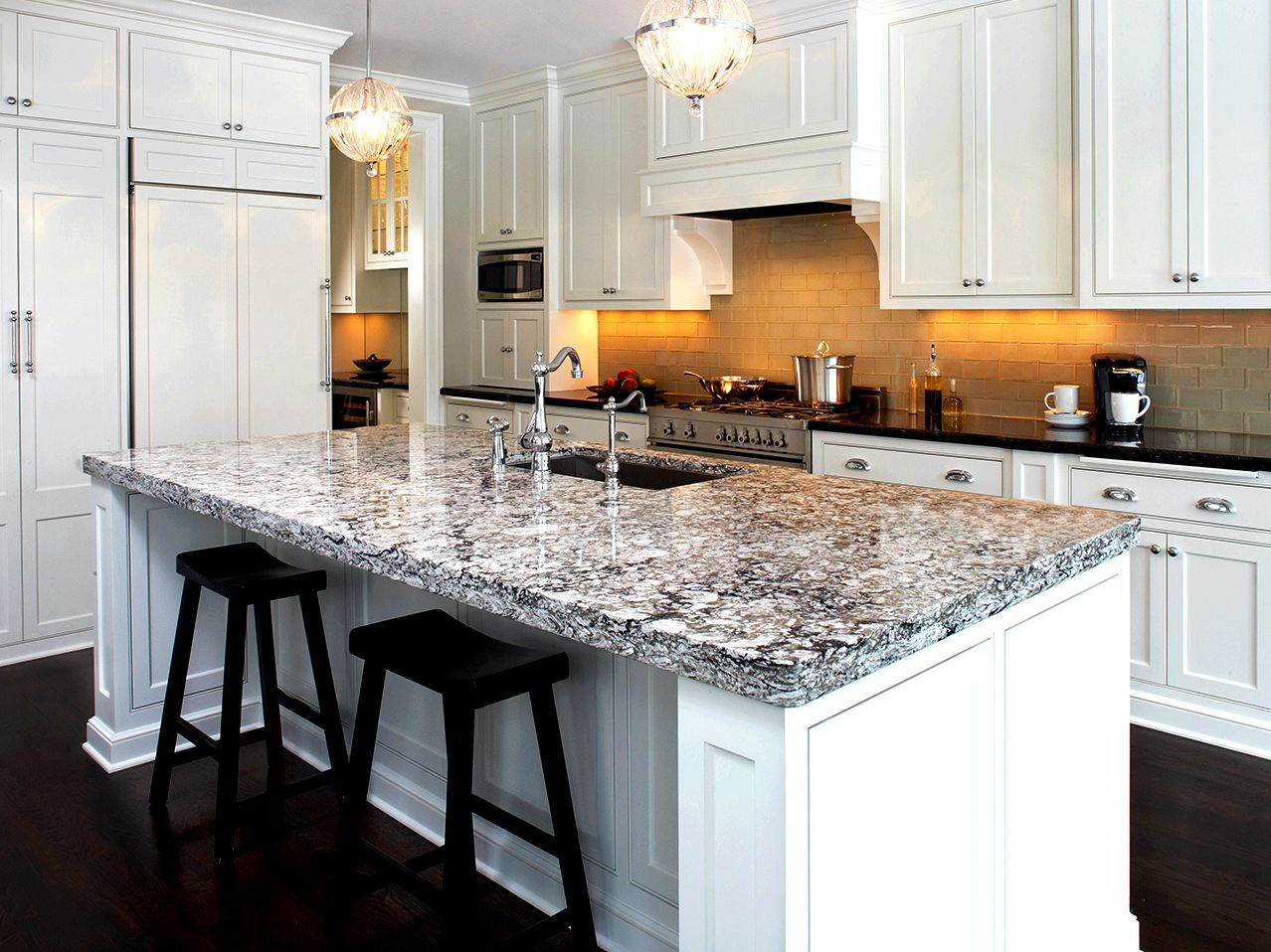 Granite versus. quarta movement countertops the bathroom or kitchen