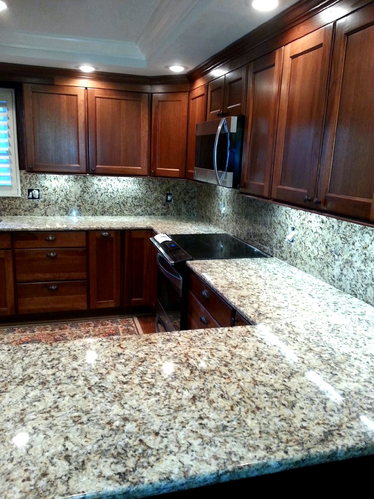 How are granite countertops made mid-air