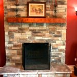 How you can use a stone-veneer hearth surround