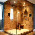 Now trending in luxury baths: steam showers made from gemstone – marble & granite