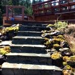 Outside stone staircase