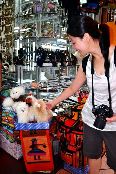 Shopping and souvenirs in peru in addition to
