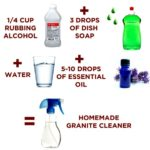 Steps to make homemade granite cleaner