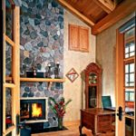Stone fireplaces for timber homes