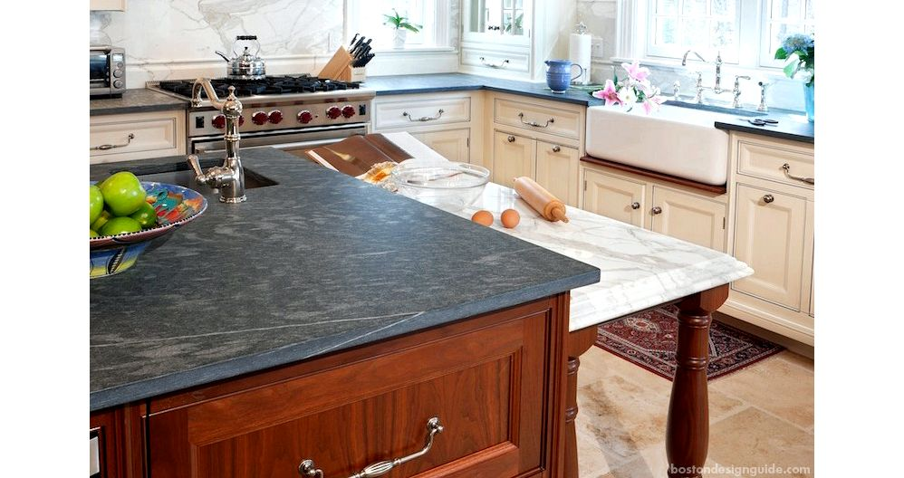 Residential Home natural stone and tile kitchen