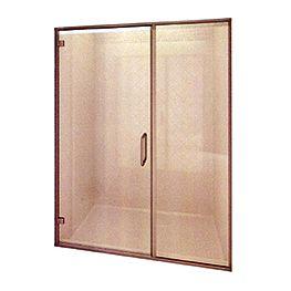 Shower Enclosure: Glass Swing Door & Inline Panel