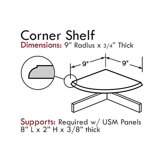 Cultured Tub & Shower Accessories: Corner Shelf