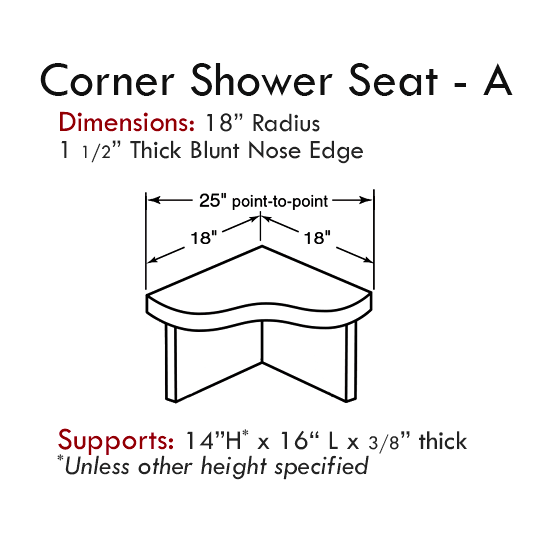 Cultured Tub & Shower Accessories: Corner Seat - Style A