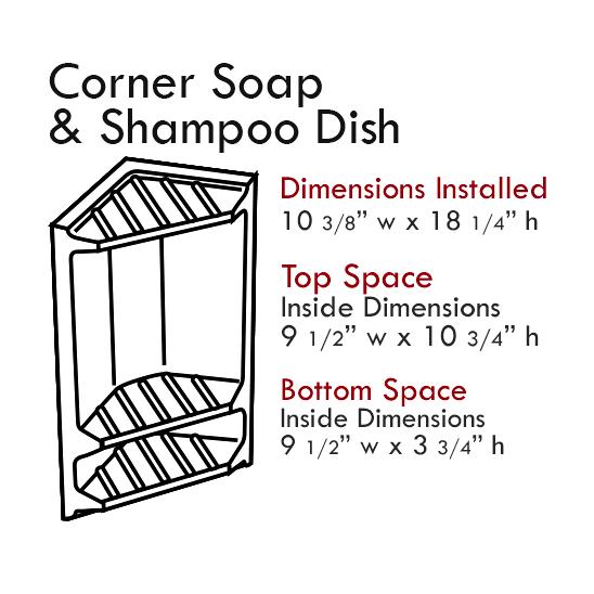 Cultured Tub & Shower Accessories: Corner Shampoo & Soap Dish