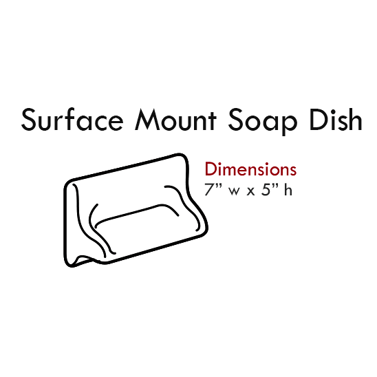 Cultured Tub & Shower Accessories: Surface Mount Soap Dish