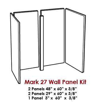 Wall Panel Kit / Tub Surround for our Mark 27 Tub