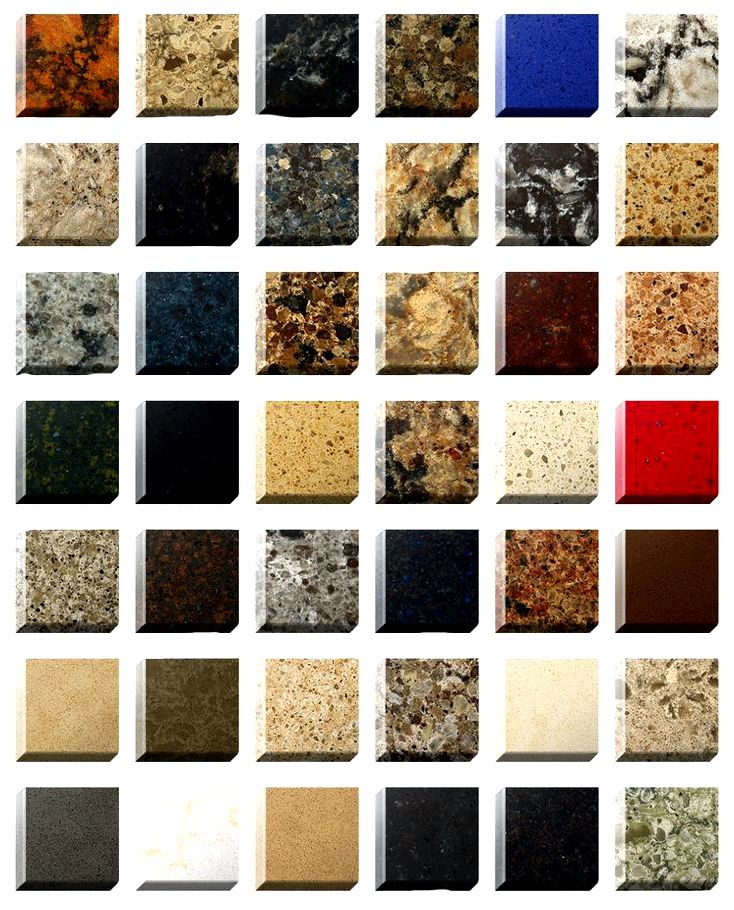 Quarts countertops color variations